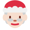 Mrs. Claus: Light Skin Tone on Twitter Twemoji 11.1