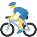 Person Biking on Twitter Twemoji 11.2