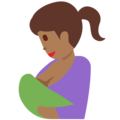 Breast-Feeding: Medium-Dark Skin Tone on Twitter Twemoji 11.2