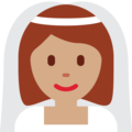 Bride With Veil: Medium Skin Tone on Twitter Twemoji 11.2