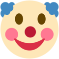 Clown Face on Twitter Twemoji 11.2
