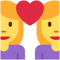 Couple With Heart: Woman, Woman on Twitter Twemoji 11.2