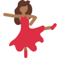 Woman Dancing: Medium-Dark Skin Tone on Twitter Twemoji 11.2