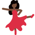 Woman Dancing: Dark Skin Tone on Twitter Twemoji 11.2