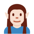Elf: Light Skin Tone on Twitter Twemoji 11.2