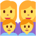 Family: Woman, Woman, Boy, Boy on Twitter Twemoji 11.2