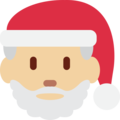 Santa Claus: Medium-Light Skin Tone on Twitter Twemoji 11.2