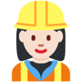 Woman Construction Worker: Light Skin Tone on Twitter Twemoji 11.2