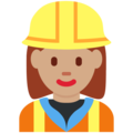 Woman Construction Worker: Medium Skin Tone on Twitter Twemoji 11.2