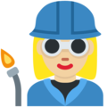Woman Factory Worker: Medium-Light Skin Tone on Twitter Twemoji 11.2