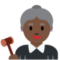 Woman Judge: Dark Skin Tone on Twitter Twemoji 11.2