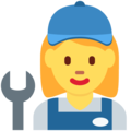 Woman Mechanic on Twitter Twemoji 11.2