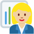 Woman Office Worker: Medium-Light Skin Tone on Twitter Twemoji 11.2