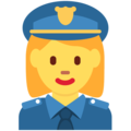 Woman Police Officer on Twitter Twemoji 11.2
