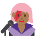 Woman Singer: Medium-Dark Skin Tone on Twitter Twemoji 11.2