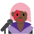 Woman Singer: Dark Skin Tone on Twitter Twemoji 11.2