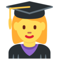 Woman Student on Twitter Twemoji 11.2