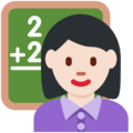 Woman Teacher: Light Skin Tone on Twitter Twemoji 11.2