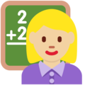Woman Teacher: Medium-Light Skin Tone on Twitter Twemoji 11.2