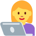 Woman Technologist on Twitter Twemoji 11.2