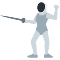 Person Fencing on Twitter Twemoji 11.2
