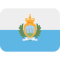 Flag: San Marino on Twitter Twemoji 11.2