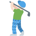 Person Golfing: Light Skin Tone on Twitter Twemoji 11.2