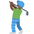 Person Golfing: Dark Skin Tone on Twitter Twemoji 11.2