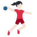 Person Playing Handball: Light Skin Tone on Twitter Twemoji 11.2