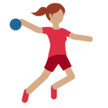Person Playing Handball: Medium Skin Tone on Twitter Twemoji 11.2