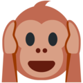 Hear-No-Evil Monkey on Twitter Twemoji 11.2