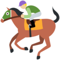 Horse Racing: Medium-Light Skin Tone on Twitter Twemoji 11.2