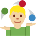 Person Juggling: Medium-Light Skin Tone on Twitter Twemoji 11.2