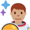 Man Astronaut: Medium Skin Tone on Twitter Twemoji 11.2
