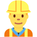 Man Construction Worker on Twitter Twemoji 11.2