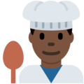 Man Cook: Dark Skin Tone on Twitter Twemoji 11.2