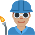 Man Factory Worker: Medium Skin Tone on Twitter Twemoji 11.2