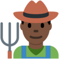 Man Farmer: Dark Skin Tone on Twitter Twemoji 11.2