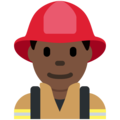 Man Firefighter: Dark Skin Tone on Twitter Twemoji 11.2