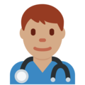 Man Health Worker: Medium Skin Tone on Twitter Twemoji 11.2