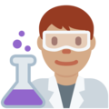 Man Scientist: Medium Skin Tone on Twitter Twemoji 11.2