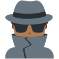 Man Detective: Medium-Dark Skin Tone on Twitter Twemoji 11.2