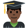 Man Student: Dark Skin Tone on Twitter Twemoji 11.2
