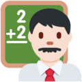 Man Teacher: Light Skin Tone on Twitter Twemoji 11.2