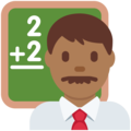 Man Teacher: Medium-Dark Skin Tone on Twitter Twemoji 11.2