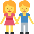 Man and Woman Holding Hands on Twitter Twemoji 11.2