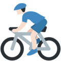 Man Biking: Light Skin Tone on Twitter Twemoji 11.2