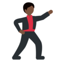 Man Dancing: Dark Skin Tone on Twitter Twemoji 11.2