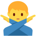 Man Gesturing No on Twitter Twemoji 11.2