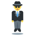 Man in Suit Levitating on Twitter Twemoji 11.2